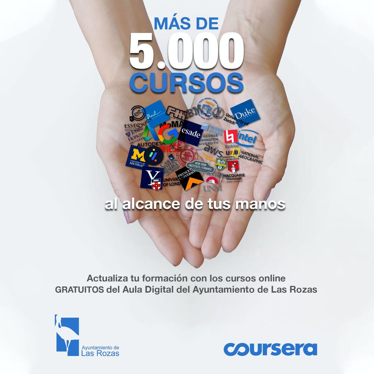 El Ayuntamiento de Las Rozas lanza 5.000 becas para cursos online en colaboración con Coursera